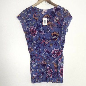 Sweet Pea Floral Top Lightweight Stretchy Size XL
